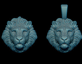 3D printable model Lion pendant silver
