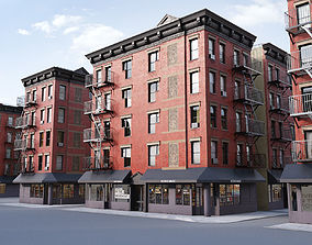 New York corner building 3D model