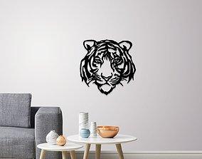 Tiger face wall decoration 3D print model