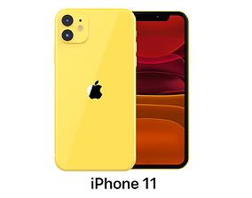 smartphone 3D Apple iPhone 11 Yellow