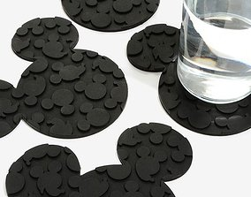 3D printable model Mickey Coasters