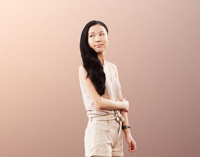3D Anita 11349 - Summer Girl Waiting And Looking Around