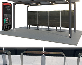 3D model infrastructure Bus Station