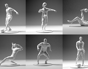 3D printable model Footballer 02 Mega Pack 6 in 1