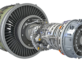PW GTF Geared Turbofan Engine 3D model
