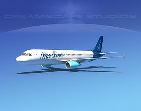 Airbus A320 LP Star Lines 3D asset