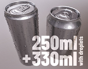Sodacan 250ml 330ml with Droplets 3D