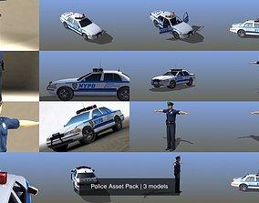 Police Asset Pack 3D model policeman