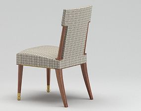White And Brown Chair 3D model