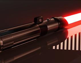 3D asset Custom Light Saber - Low Poly