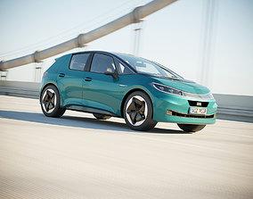 German electric compact car 3D