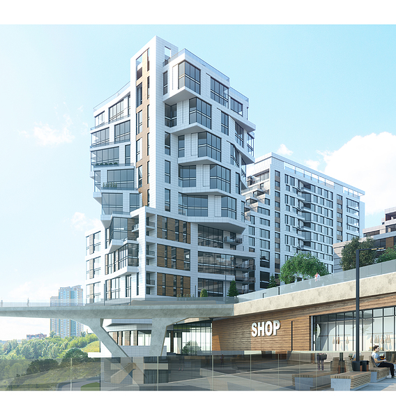 Concept. Residential Building.