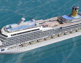 Costa Magica Cruise Ship 3D asset