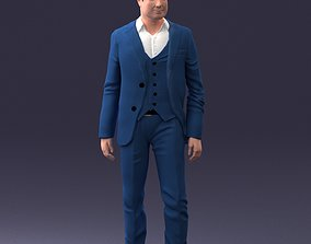Man in stylish suit 1217 3D Print Ready