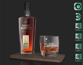 3D model Hankey Bannister 21 YO Scotch Premium Whisky 3