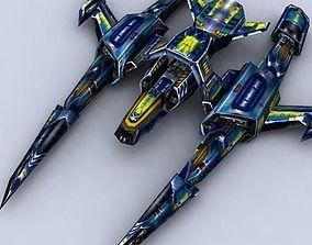 realtime 3DRT - Sci-Fi Fighters Fleet - Fighter 7