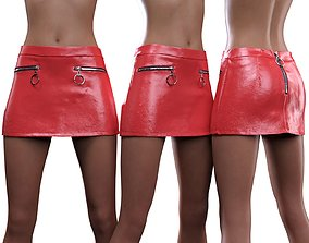 Zipper Miniskirt 3D