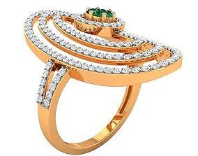 3D print model engagem Cocktail Ring For Ladies