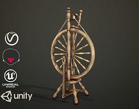 Spinning Wheel PBR 3D asset