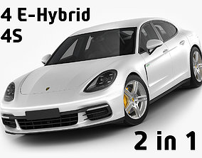 Porsche Panamera Hybrid and 4S 3D