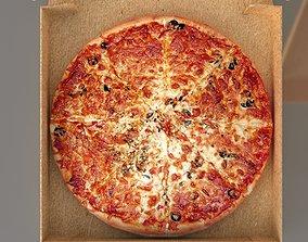 3D model mozzarella pizza