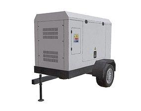 3D asset White Electric Generator