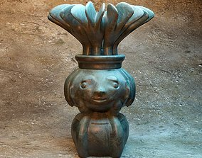 Pensive girl vase 3D printable model