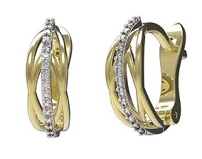 3D print model Earrings emerald