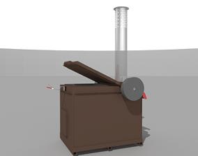 3D model Waste Incinerator