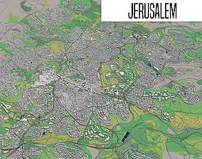 3D model hebrew Jerusalem