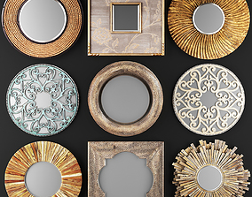 Collection of decorative mirrors 3D