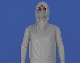 Nurse With Protective Clothing 3D model