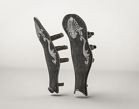 3D model Roman Leg Armor Greave