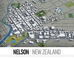 Nelson - city and surroundings 3D asset