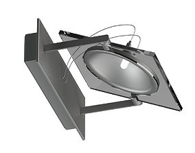 Dark Grey Lamp 3D model