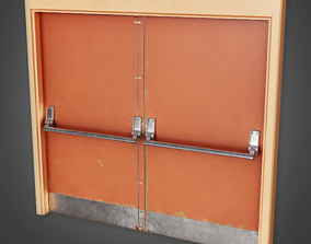Gym School Door - HSG - PBR Game Ready 3D model