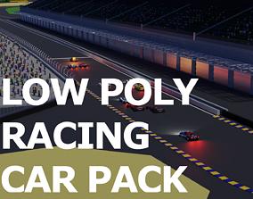 Low Poly Racing Car Pack 3D asset realtime