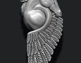 horse pegasus pendant 3D print model