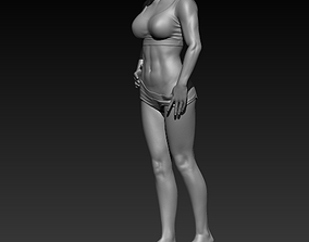 beutiful muscle female 3D print model