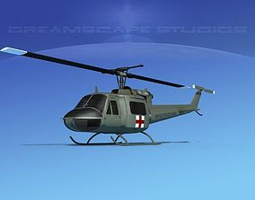 3D model Bell UH-1B Iroquois US Army Med