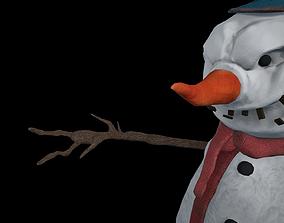 3D model Creepy Snowman - Nightmare Monster