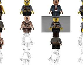 Brick Minifigures - Civilians 3D model