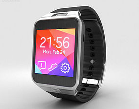 3D Samsung Galaxy Gear 2 Charcoal Black