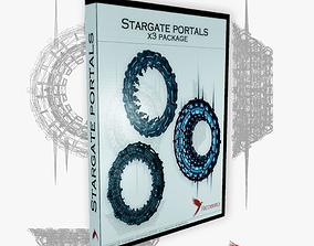 x3 stargate package 3D asset