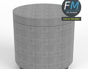 Round footrest 3D model