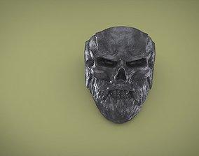 3D print model Ring Bearded skull