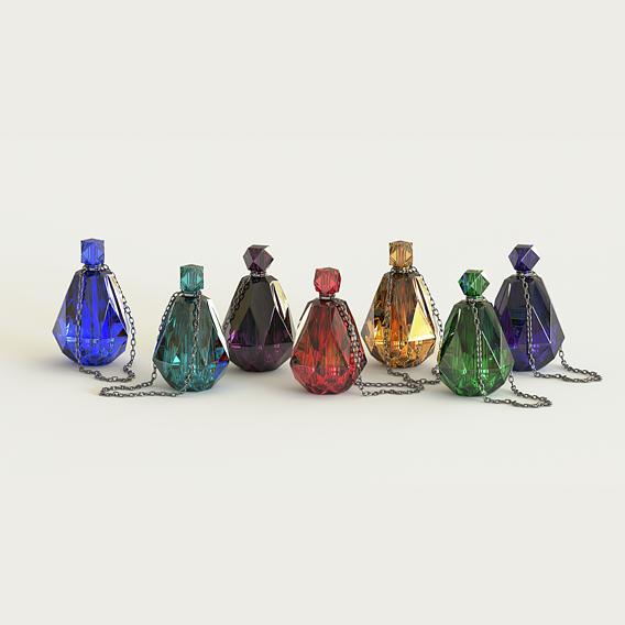Crystal magic bottle