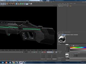 Fusil a Plasma Calibre 12 3D model