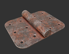 Rusty door hinge tree 3D model