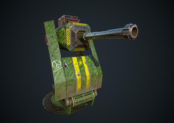 Foldable sentry gun